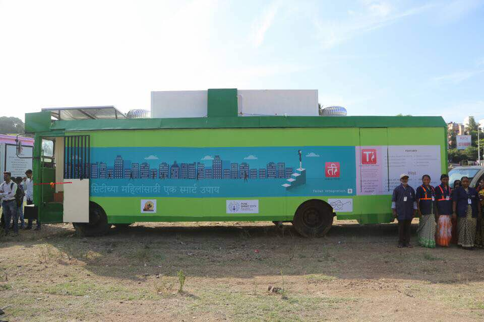 Flag off Ceremony of TI - Mobile Toilet Buses for Women