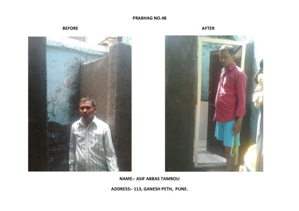 Support to PMC in construction of 16,000 Individual Toilets to make Pune City Open Defecation Free city