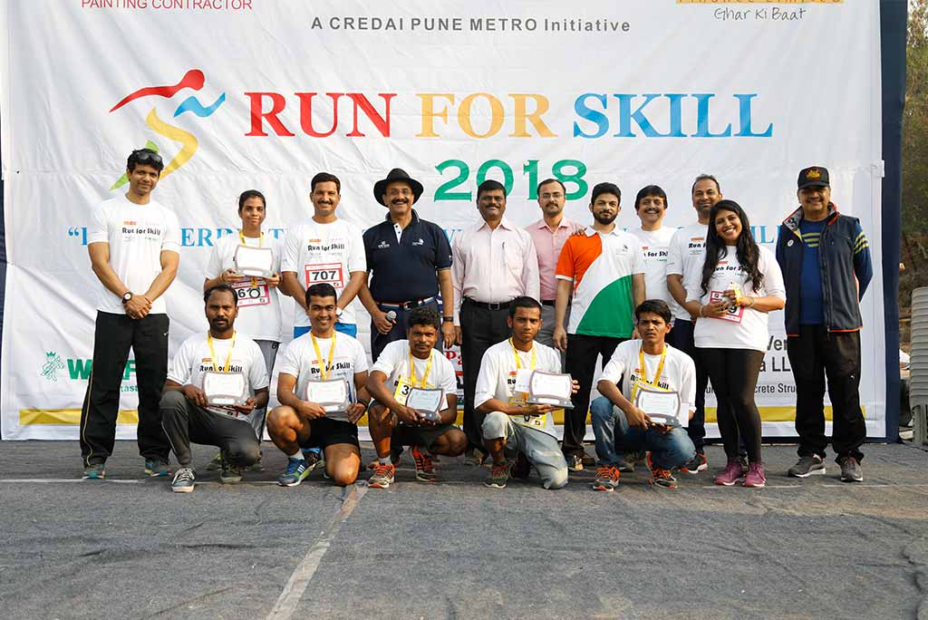 CREDAI-Pune Metro and Kushal - Run for Skill held