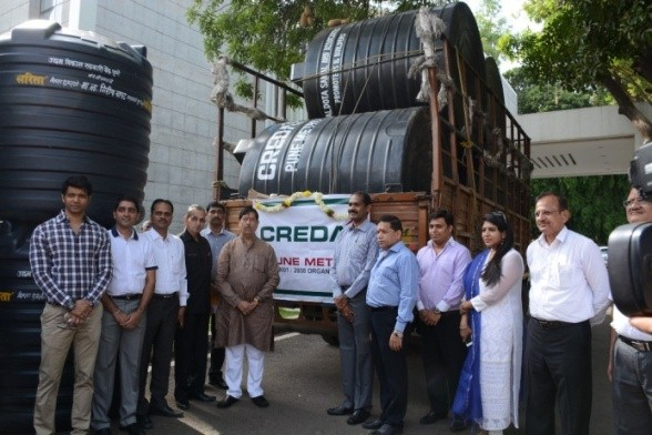 Donation of Water Tankers to Drought Affected Areas in Pune District