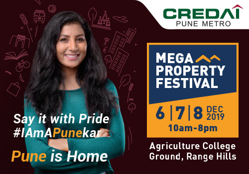 Register Now for 19th Mega Property Exhibition of CREDAI-Pune Metro during 6th, 7th & 8th Dec 2019