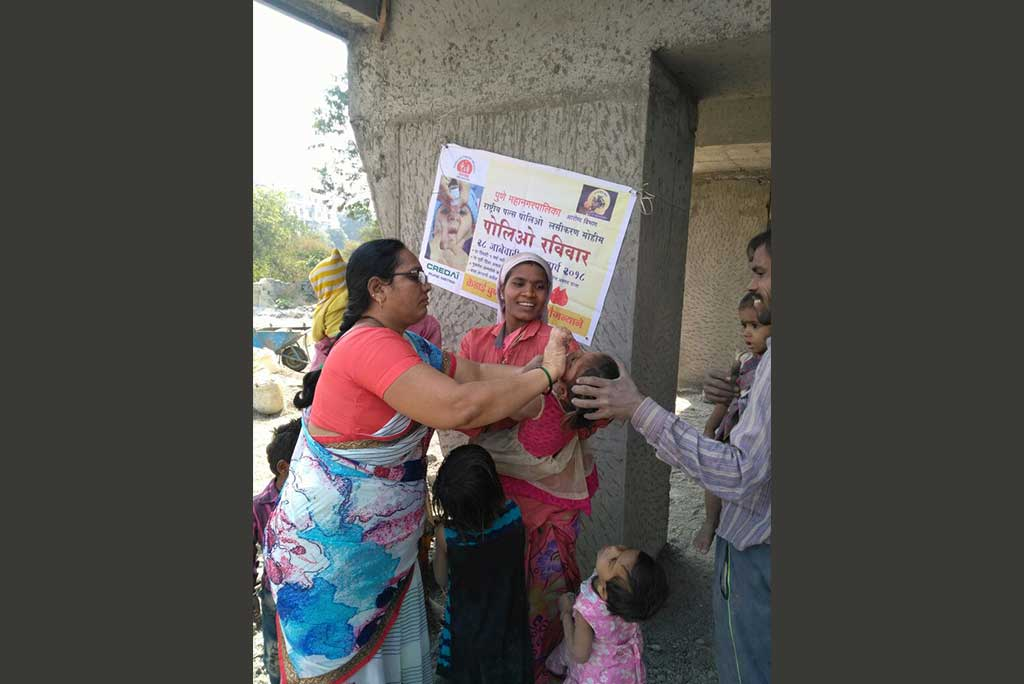 Pulse Polio Drive 2018 by CREDAI-Pune Metro