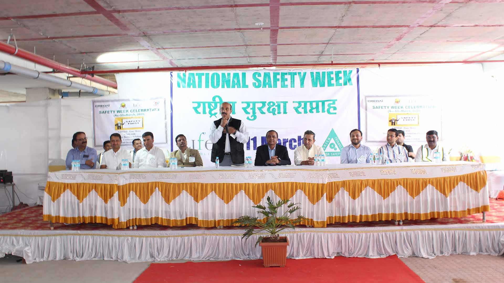 Safety Week Celebration held on Life Republic Construction Site, Hinjewadi of Kolte Patil Developers Ltd.