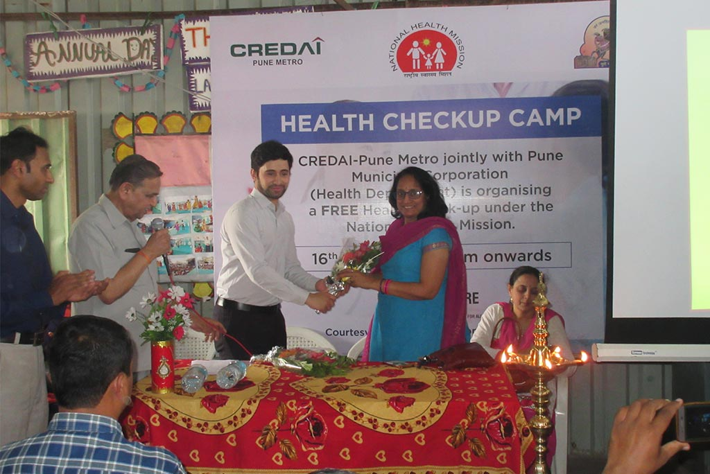 First Health Checkup Camp for Construction Workers Jointly With PMC and National Health Mission