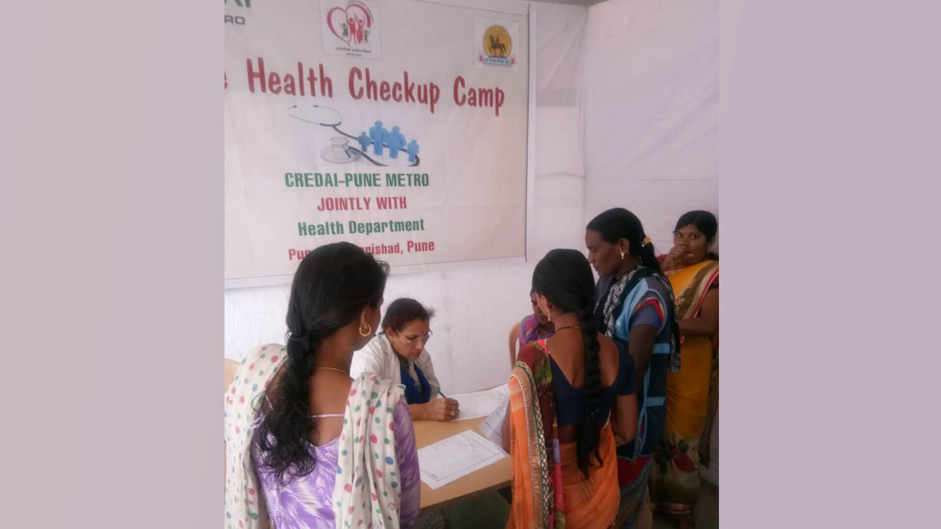 First Health Checkup Camp for Construction Workers  Jointly with Zilla Parishad, Health Department