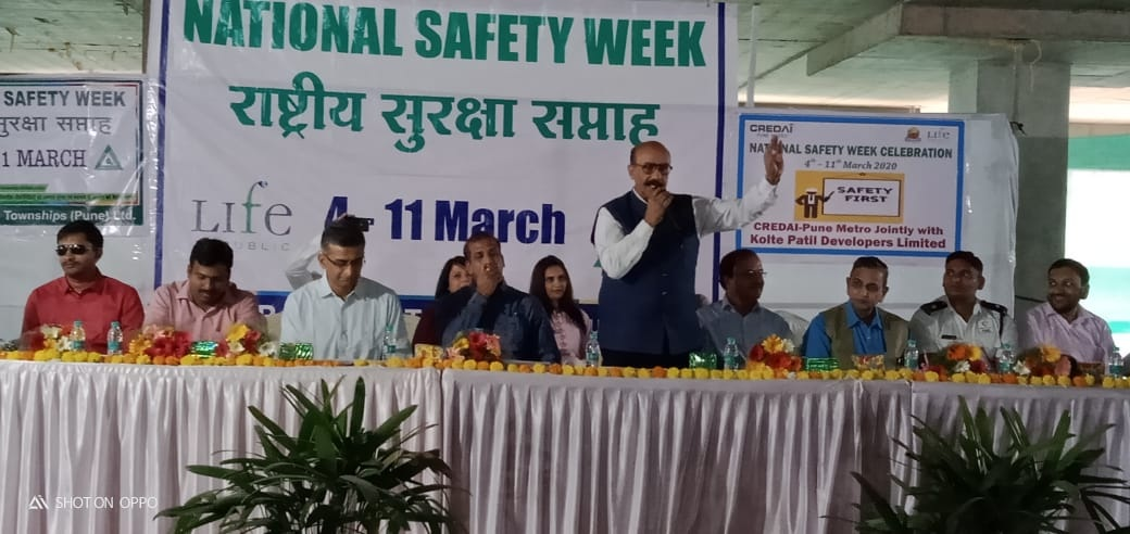Safety Week Celebration 2020 and Launching of  Accounts opening by India Post Payments Bank at Life Republic Site of Kolte Patil Developers Ltd on 6th
