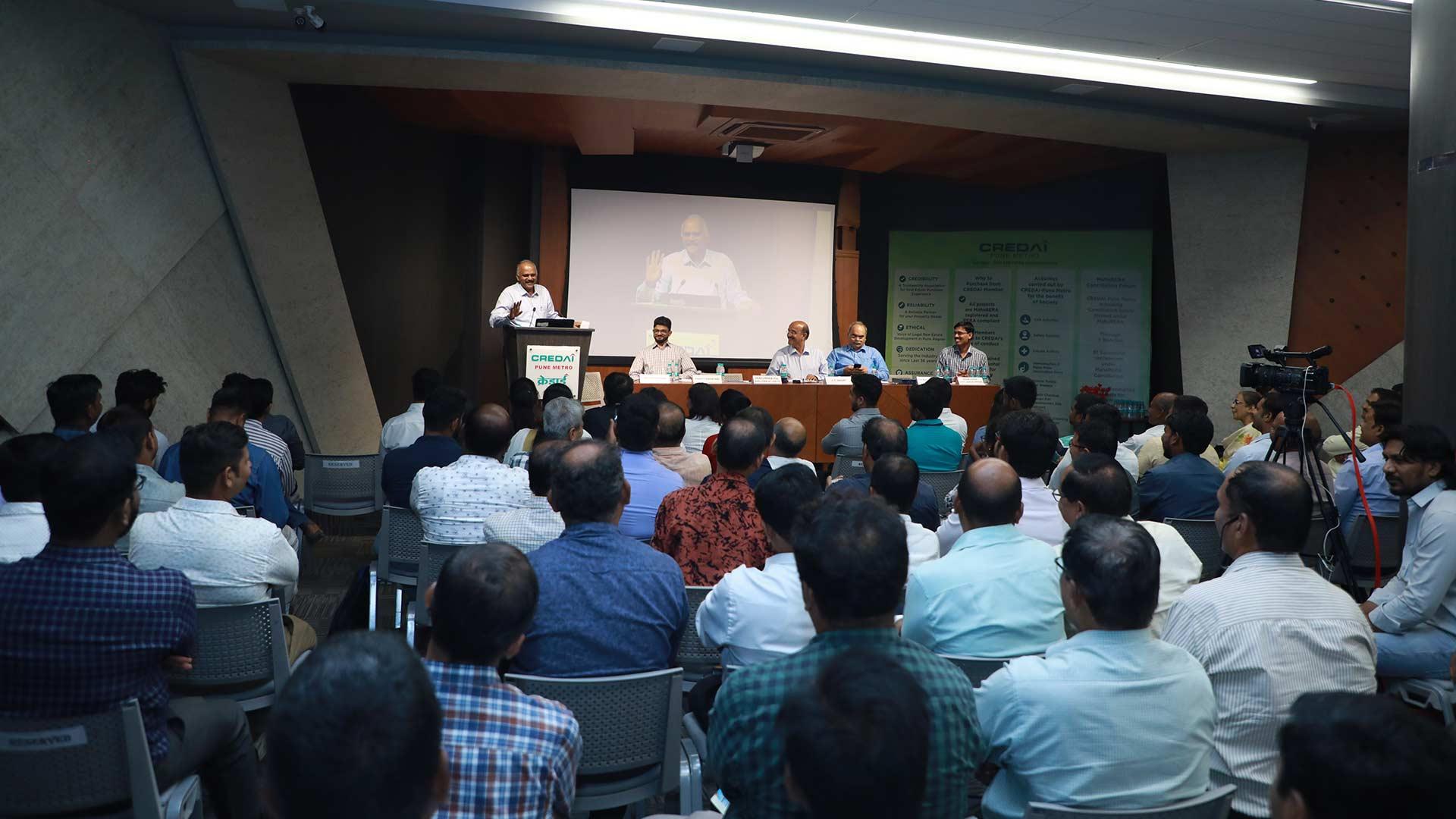 Contractor's Awareness Program reg. Labour Registration under BOCW and Labour Welfare Benefits held on 17th June, 2019 at CREDAI-Pune Metro Auditorium