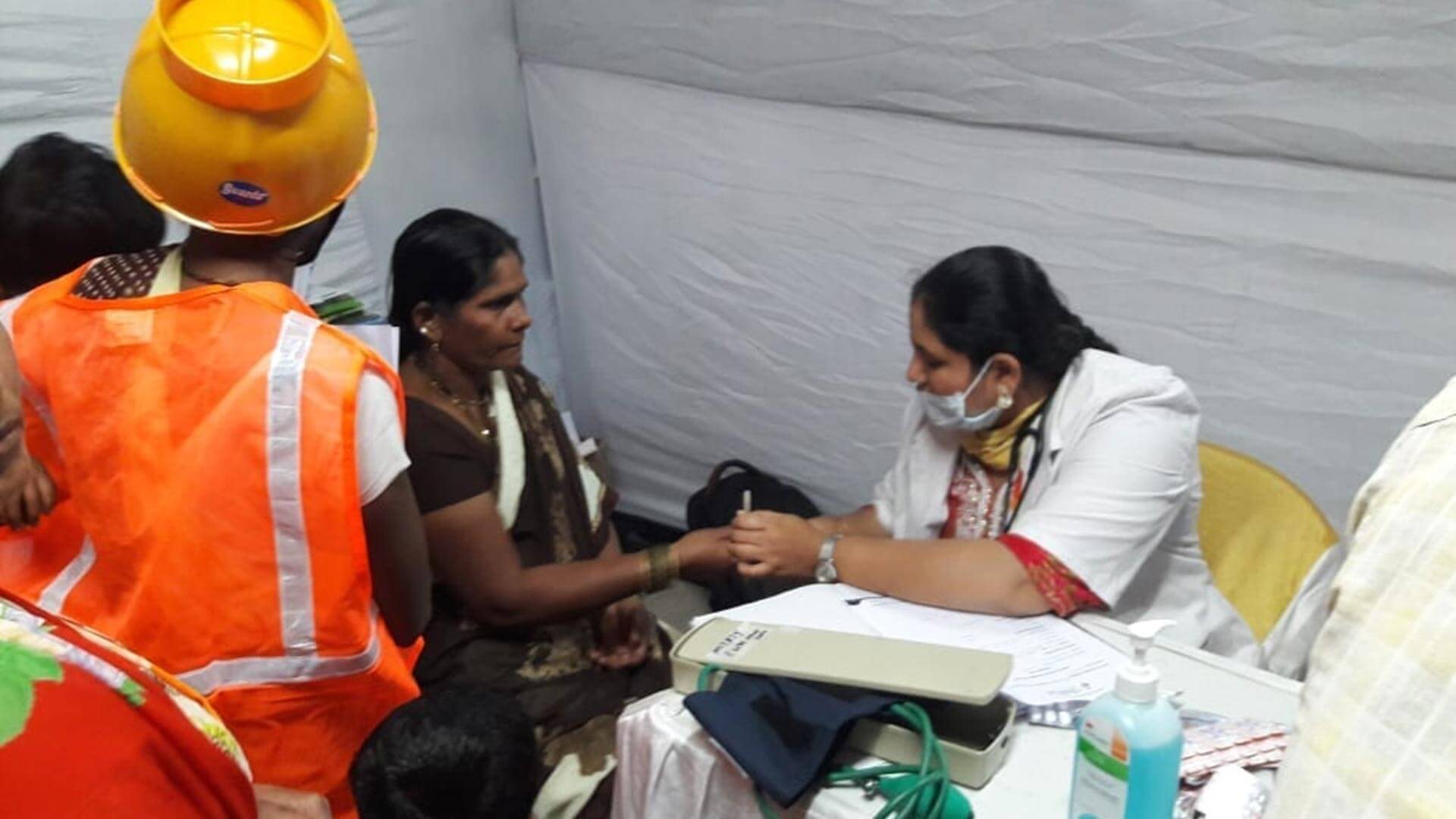 First Health Checkup Camp at PCMC for Construction Workers Joinly With Sparsh Hospital