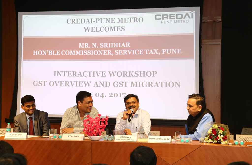 Interactive Workshop on GST Overview and GST Migration on 05.04.2017 at CREDAI-Pune Metro Auditorium